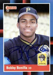 Bobby Bonilla Autograph on a 1988 Donruss (#238)