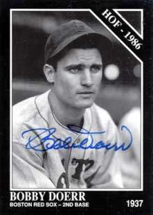 Bobby 'The Silent Captain' Doerr Autograph on a 1992 Conlon Collection Baseball Card (#467)