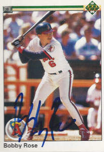 Bobby Rose Autograph on a 1990 Upper Deck (#77)