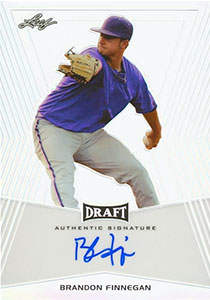 Brandon Finnegan Autograph on a  2014 Leaf Metal Draft Prismatic Refractor (#BA-BFI)