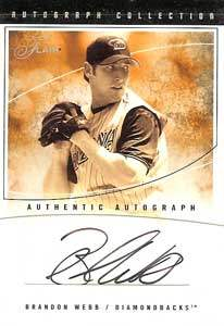 Brandon Webb Autograph on a 2004 Flair (#AC-BW)