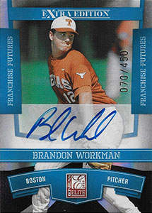 Brandon Workman Autograph on a 2010 Donruss Elite Extra Edition Baseball Card (#14)