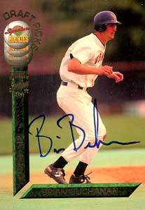 Brian Buchanan Autograph on a 1994 Signature Rookies (#23)