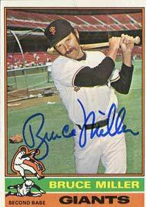 Bruce Miller Autograph on a 1976 Topps Baseball Card (#367 | <a href='../baseball_cards/baseball_cards_oneset.php?s=1976top01' title='1976 Topps Baseball Card Checklist'>Checklist</a>)
