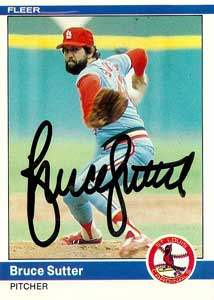 Bruce Sutter Autograph on a 1984 Fleer (#338)