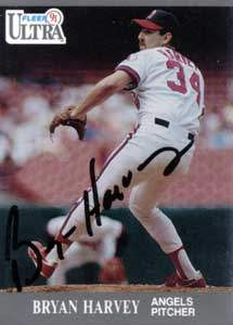 Bryan Harvey Autograph on a 1991 Fleer (#45)