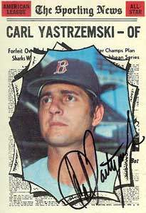 Carl 'Yaz' Yastrzemski Autograph on a 1970 Topps Baseball Card (#461 | <a href='../baseball_cards/baseball_cards_oneset.php?s=1970top01' title='1970 Topps Baseball Card Checklist'>Checklist</a>)