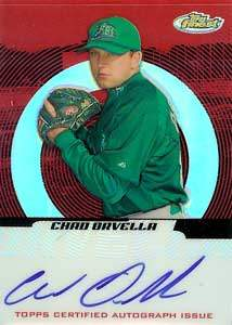 Chad Orvella Autograph on a 2005 Topps Finest (#152)