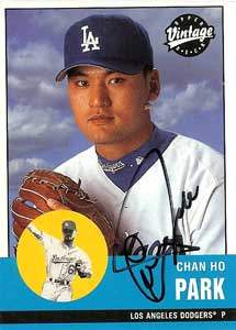 Chan Ho Park Autograph on a 2001 Upper Deck Vintage (#234)