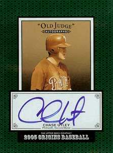 Chase 'Silver Fox' Utley Autograph on a 2004 Upper Deck Old Judge (#CU)