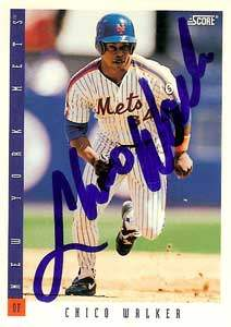 Chico Walker Autograph on a 1993 Score (#399)