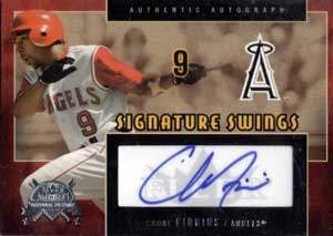 Chone Figgins Autograph on a 2005 Fleer National Pastime