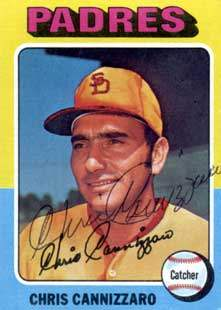 Chris Cannizzaro Autograph on a 1975 Topps Baseball Card (#355 | <a href='../baseball_cards/baseball_cards_oneset.php?s=1975top01' title='1975 Topps Baseball Card Checklist'>Checklist</a>)