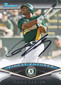 Chris 'Rhino' Carter Autograph on a 2011 Bowman Finest Futures (#FF13)