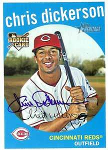 Chris Dickerson Autograph on a 2008 Topps Heritage (#667)
