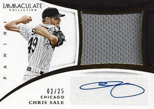 Chris 'The Conductor' Sale Autograph on a 2015 Panini Immaculate Autograph Baseball Card (#2/25)