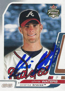 Chris Waters Autograph on a 2003 Fleer (#170)