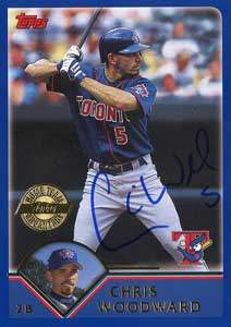 Chris Woodward Autograph on a 2003 Topps (#564)