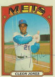 Cleon Jones Autograph on a 1972 Topps Baseball Card (#31 | <a href='../baseball_cards/baseball_cards_oneset.php?s=1972top01' title='1972 Topps Baseball Card Checklist'>Checklist</a>)
