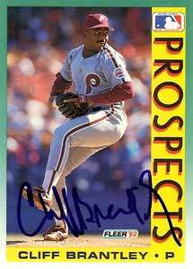 Cliff Brantley Autograph on a 1992 Fleer (#662)