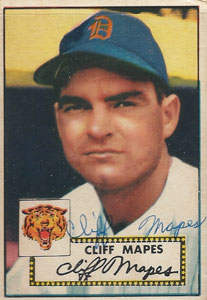 Cliff Mapes Autograph on a 1952 Topps (#103)