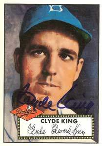 Clyde King Autograph on a 1995 Topps Archives Brooklyn Dodgers Baseball Card (#12 | <a href='../baseball_cards/baseball_cards_oneset.php?s=1995top03' title='1995 Topps Archives Brooklyn Dodgers Baseball Card Checklist'>Checklist</a>)