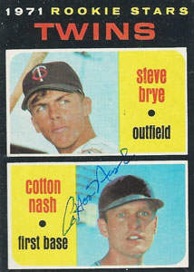 Cotton Nash Autograph on a 1971 Topps (#391)