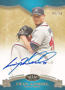 Craig Kimbrel Autograph on a 2012 Topps Tier One (#44/50)