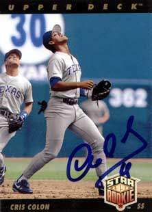 Cris Colon Autograph on a 1992 Upper Deck (#14)