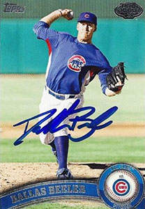 Dallas Beeler Autograph on a 2011 Topps Pro Debut (#275)