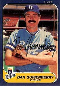 Dan Quisenberry Autograph on a 1986 Fleer (#18)
