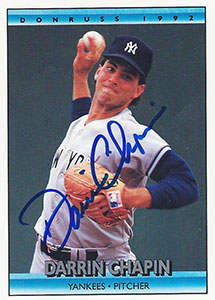 Darrin Chapin Autograph on a 1992 Donruss (#745)