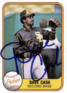 Dave Cash Autograph on a 1981 Fleer (#492)