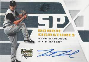Dave Davidson Autograph on a 2008 Upper Deck SPX (#132)