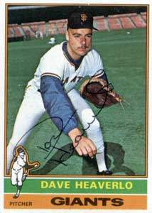 Dave Heaverlo Autograph on a 1976 Topps Baseball Card (#213 | <a href='../baseball_cards/baseball_cards_oneset.php?s=1976top01' title='1976 Topps Baseball Card Checklist'>Checklist</a>)