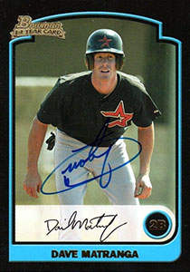 Dave Matranga Autograph on a 2003 Bowman (#BDP)