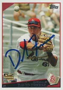 David Freese Autograph on a 2008 Topps (#643)