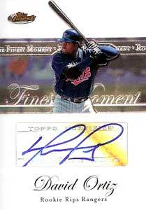David Ortiz Autograph on a 2007 Topps Finest Baseball Card (#RFMA-DO)