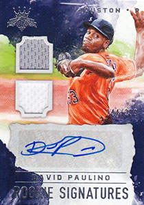 David Paulino Autograph on a 2017 Donruss Diamond Kings Baseball Card (#RS-DP)