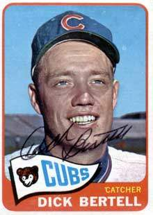 Dick Bertell Autograph on a 1965 Topps Baseball Card (#27 | <a href='../baseball_cards/baseball_cards_oneset.php?s=1965top01' title='1965 Topps Baseball Card Checklist'>Checklist</a>)