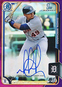 Dixon Machado Autograph on a 2015 Bowman Chrome Baseball Card (#234/250)