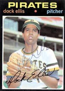 Dock Ellis Autograph on a 1971 Topps (#2)