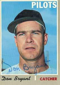 Don Bryant Autograph on a 1970 Topps Baseball Card (#473 | <a href='../baseball_cards/baseball_cards_oneset.php?s=1970top01' title='1970 Topps Baseball Card Checklist'>Checklist</a>)