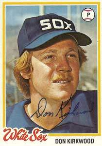Don Kirkwood Autograph on a 1978 Topps (#251)
