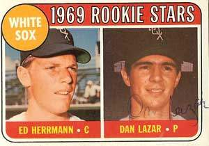 Dan Lazar Autograph on a 1969 Topps Baseball Card (#439 | <a href='../baseball_cards/baseball_cards_oneset.php?s=1969top01' title='1969 Topps Baseball Card Checklist'>Checklist</a>)