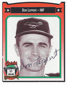 Don Leppert Autograph on an All-Time Orioles Card (#261)