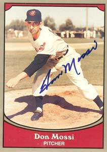 Don 'The Sphinx' Mossi Autograph on a 1990 Pacific Legends Baseball Card (#95 | <a href='../baseball_cards/baseball_cards_oneset.php?s=1990pac02' title='1990 Pacific Legends Baseball Card Checklist'>Checklist</a>)