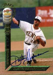 Dustin Hermanson Autograph on a 1994 Signature Rookies (#4)