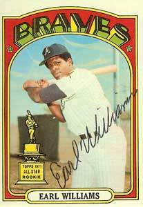 Earl Williams Autograph on a 1972 Topps Baseball Card (#380 | <a href='../baseball_cards/baseball_cards_oneset.php?s=1972top01' title='1972 Topps Baseball Card Checklist'>Checklist</a>)