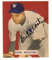 Earl Wooten Autograph on a 1949 Bowman Reprint (#189)
